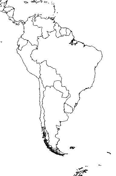 South America Travel Advice Best Places To Travel In South America - South america blank map